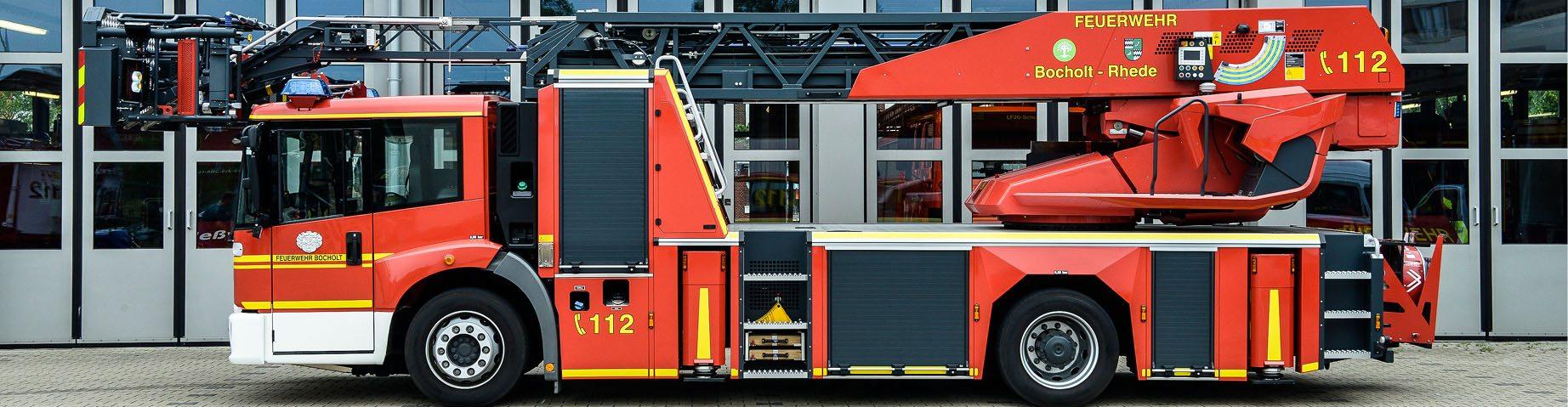 Ein Löschfahrzeug der Freiwilligen Feuerwehr.